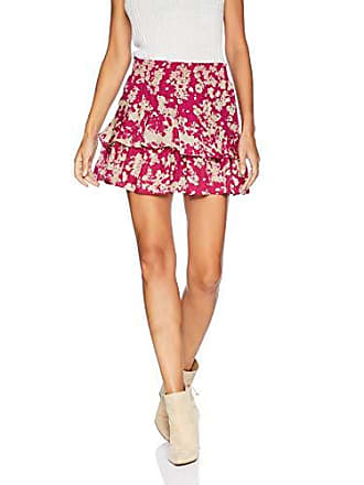Ramy Brook Womens Bonnie Floral Mini Skirt, Fuchsia Combo, Small