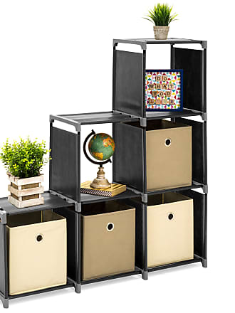 Best Choice Products 6-Drawer Multi-Purpose Cubby Storage Cabinet - Black