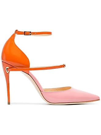 4e6d5101643c Jennifer Chamandi pink and orange Enrico 105 patent leather pumps - Yellow