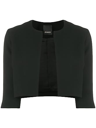 Pinko cropped crepe jacket - Black