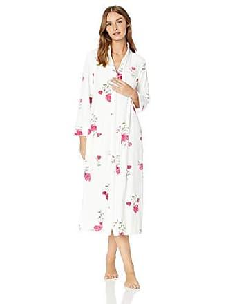 0b204249d508 Carole Hochman Womens Luxe Velour Long Zip Robe, Roses, XS