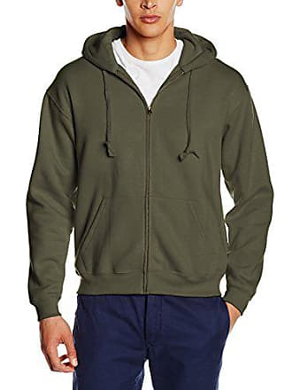 117509b2a7979 Fruit Of The Loom SS107M, Sweat-Shirt à Capuche Homme, Green (Classic