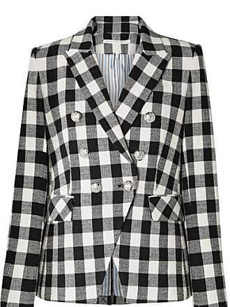 Veronica Beard Miller Dickey Gingham Linen-blend Blazer - Black