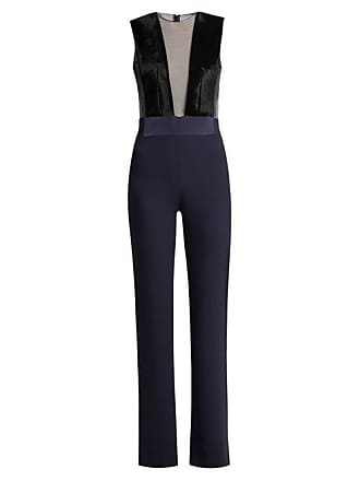 382aad3331d Galvan Gwyneth Panelled Crepe Jumpsuit - Womens - Navy Multi