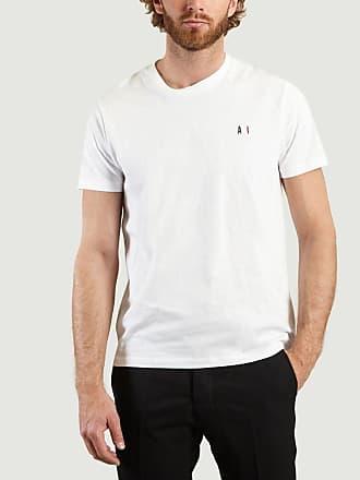 Ami Weißes AMI Kurzarm-T-Shirt aus bestickter Baumwolle - cotton | white | Size XS - White/White