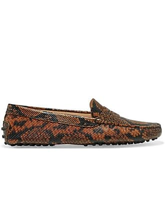 42ae713eb6 Tod's Gommino Snake-effect Leather Loafers - Snake print