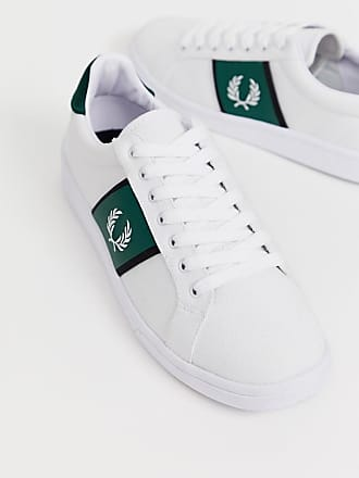 Fred Perry B721 canvas tricot sneakers in white - White