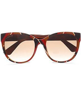 27735650eee Gucci Gucci Woman D-frame Striped Acetate Sunglasses Multicolor Size