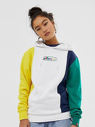Ellesse Ellesse relaxed hoodie with rainbow front logo in color block exclusive to ASOS - Multi