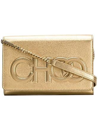 Jimmy Choo London gold metallic Sonia crossbody bag - Dourado