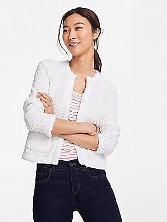 ANN TAYLOR Fringe Trim Sweater Jacket