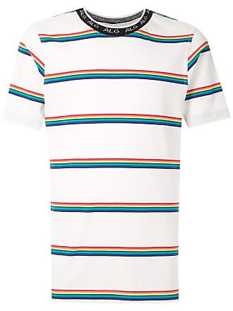 À La Garçonne T-shirt listrada com logo - Branco