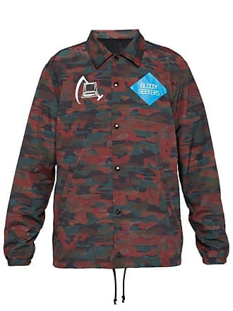 Undercover Camouflage Print Computer Patch Jacket - Mens - Red