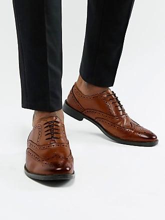 744ac4e58178e5 Asos Chaussures Oxford style Richelieu en cuir - Fauve - Fauve