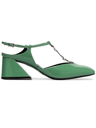 Yuul Yie green glamour 60 patent leather pumps
