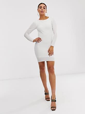1d15278948 Asos Robe courte plissée à grand décolleté dos - Blanc