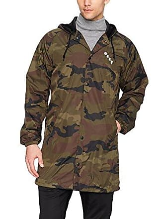 Obey Mens 8 Ball Icon Hooded Jacket, camo, L