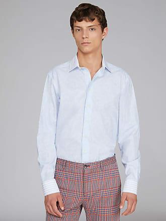 Etro Zweistoff-hemd Aus Organischer Baumwolle Benetroessere, Herren, Hellblau, Größe 39