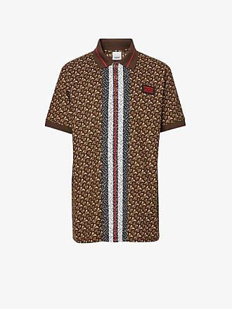 0d3b6c81c Burberry Monogram Stripe Print Cotton Piqué Polo Shirt
