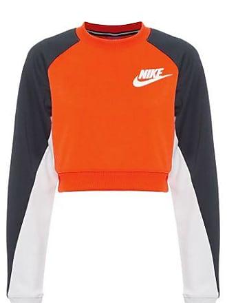 Nike Blusa Cropped Crew Pk NIKE - Laranja 86fd4e2d61ae6