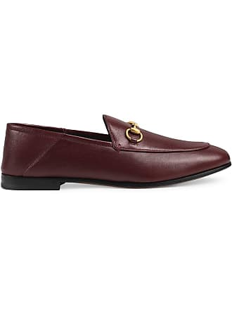 c8c78398dbb Gucci Brixton leather Horsebit loafer - Red