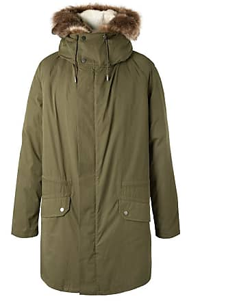 f9c99fe571271 Yves Salomon Cotton-blend Hooded Down Parka With Detachable Shearling Lining  - Green