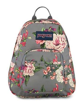 Jansport Half Pint Mini Backpacks - Grey Bouquet Floral