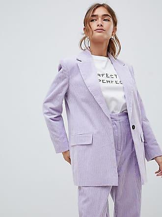 25108c4eb9 Asos Petite ASOS DESIGN Petite cord tailored blazer - Purple