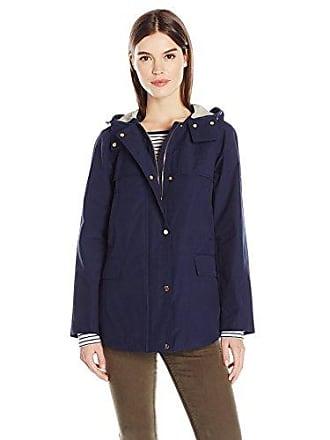 Jones New York Womens Cotton Bonded Water Repellent Jacket, Navy, S