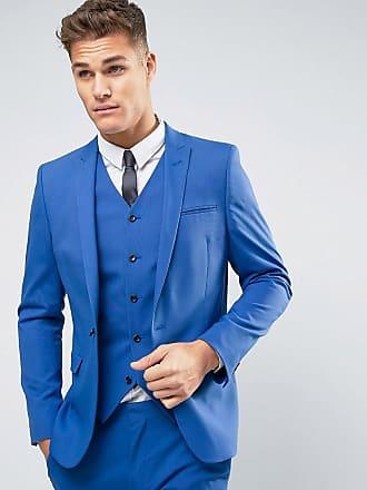 Asos ASOS - Bröllop - Blå kavaj med extra smal passform - Mörkblå 2f87fd5b2c264