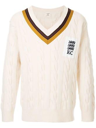 Kent & Curwen v-neck jumper - White