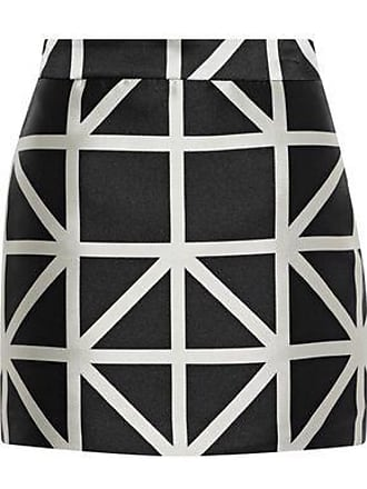 Milly Milly Woman Modern Satin-jacquard Mini Skirt Black Size 10