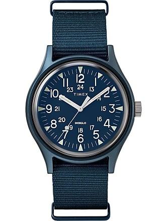 Timex Watch Mens Mk1 Aluminum 40MM Fabric Blue Item Tw2R37300Vq