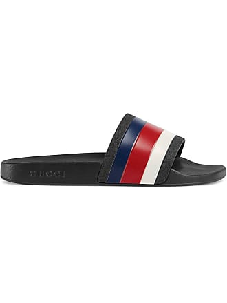 9fb689a9668e6 Gucci Rubber slide sandals - Black