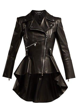 754613034d54e8 Alexander McQueen Alexander Mcqueen - Peplum Leather Biker Jacket - Womens  - Black
