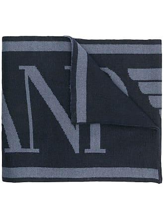 Emporio Armani logo scarf - Blue