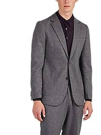 PIATTELLI Mens Mélange Brushed Knit Two-Button Sportcoat - Gray Size 44