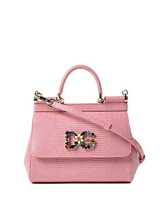 154fb1b177 Dolce   Gabbana Sicily iguana print pink small bag