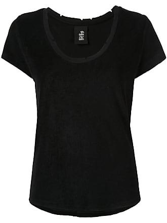 Thom Krom Camiseta com detalhes puídos - Preto