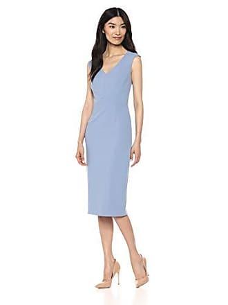 Ivanka Trump Womens Scuba Crepe Sheath Compression Dress, Cornsilk, 8