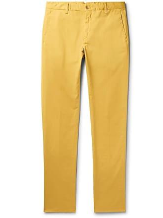 Zanella Noah Garment-dyed Stretch-cotton Chinos - Saffron