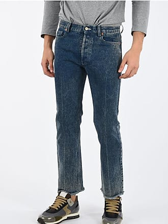 Gucci Straight Fit Jeans with Frayed Hem 20 cm size 33