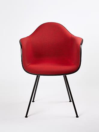 Vitra DAX Plastic Armchair Dark Base & Hopsak Upholstery