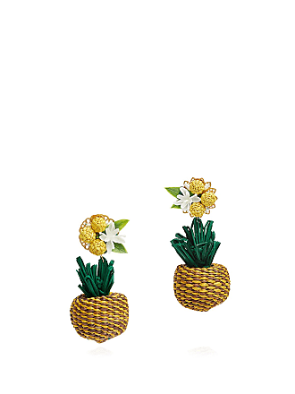 Mercedes Salazar Pineapple Palm Earrings Multi