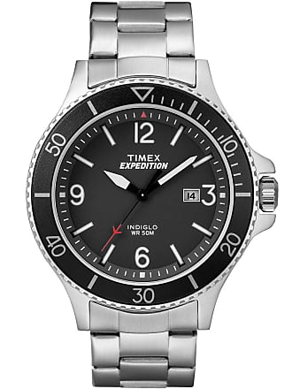 Timex Watch Mens Expedition Ranger 43MM Bracelet Ip Steel/silver-Tone/black Item Tw4B10900Jt