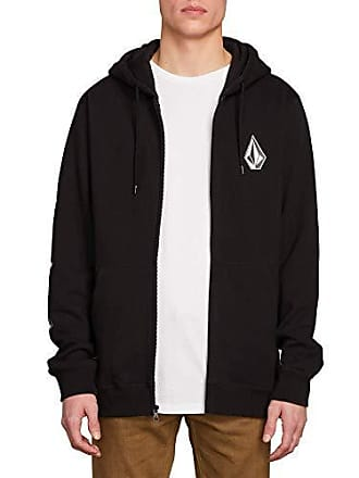 b684e7bba Volcom Mens Deadly Stone Zip Up Hooded Sweatshirt, Black Extra Large