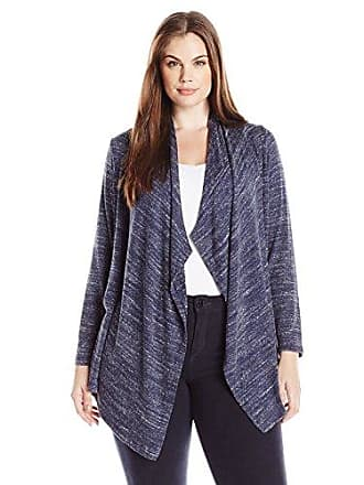 Karen Kane Womens Plus Size Drape Cardigan, Navy, 1X