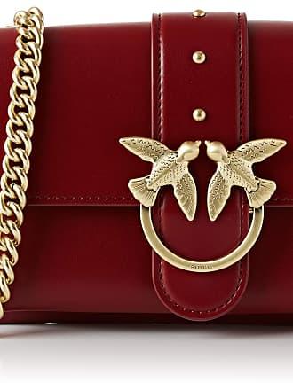 Pinko Mini Love Soft 1 Womens Cross-Body Bag, Red (Dark Red), 4x14x24 centimeters (W x H x L)