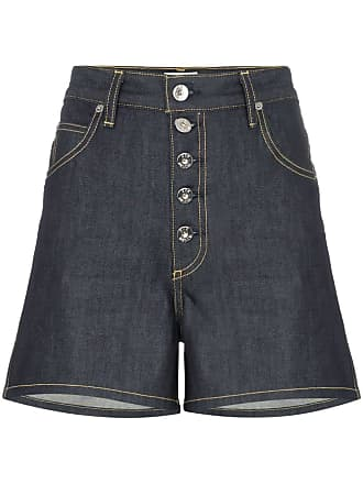 Eve Denim Short jeans Leo cintura alta - Azul