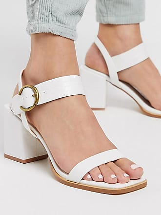 Z_Code_Z Exclusive Oni vegan block heeled sandals in white croc
